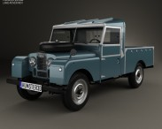 3D model of Land Rover Series I 107 Pickup 1958