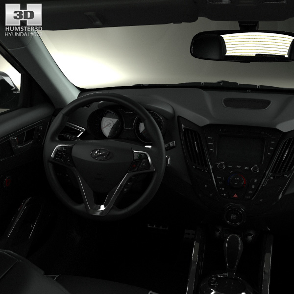 Hyundai veloster turbo with hq interior 2014 3d model Hyundai veloster interior accessories