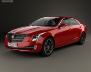 3D model of Cadillac ATS L 2015
