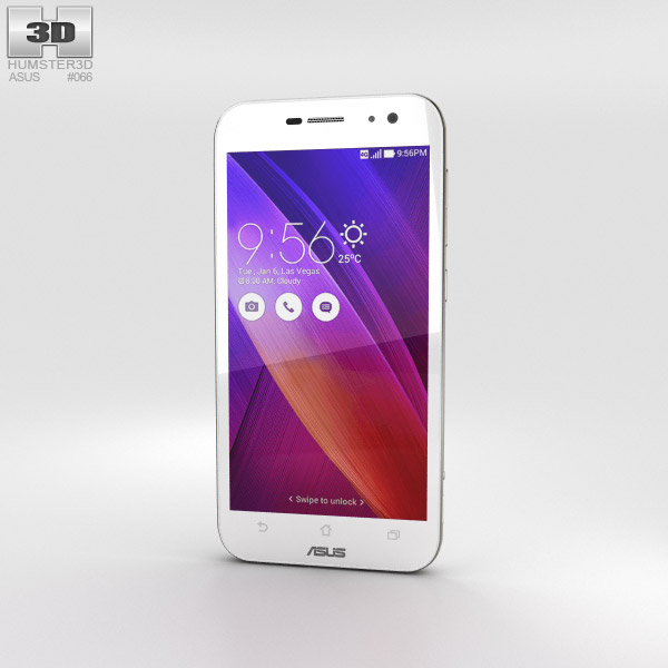 3D model of Asus Zenfone Zoom Glacier White