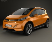 3D model of Chevrolet Bolt Concept 2015