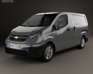 3D model of Chevrolet City Express 2015