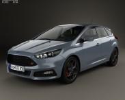 3D model of Ford Focus ST 2015