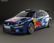 3D model of Volkswagen Polo R WRC Racecar 2015