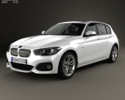 3D model of BMW 1 Series (F20) 5-door M Sport Package 2015