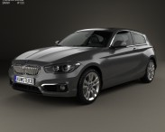 3D model of BMW 1 Series (F21) 3-door Urban Line 2015