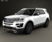3D model of Ford Explorer (U502) Platinum 2015