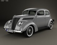 3D model of Ford V8 Model 78 Standard (78-700A) Tudor Sedan 1937