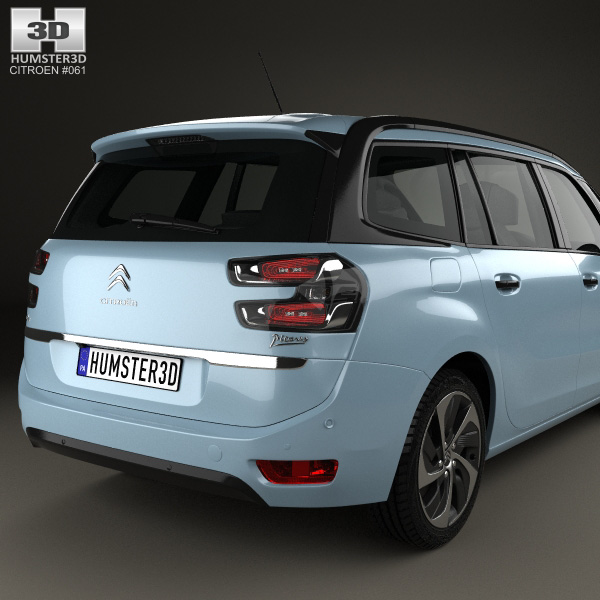 citroen c4 grand picasso 2013 3d model humster3d. Black Bedroom Furniture Sets. Home Design Ideas