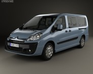 3D model of Citroen Dispatch Combi L2H1 2013
