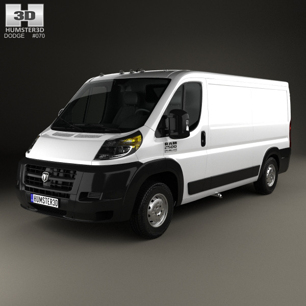 3D model of Dodge Ram ProMaster Cargo Van L2H1 2013