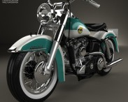 3D model of Harley-Davidson Panhead FLH Duo-Glide 1958