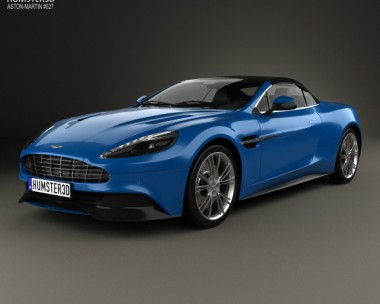 3D model of Aston Martin Vanquish Volante 2013