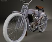 3D model of Harley-Davidson model 2 1906
