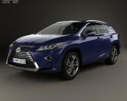 3D model of Lexus RX hybrid 2016