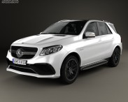 3D model of Mercedes-Benz GLE-Class (W166) AMG 2014