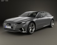 3D model of Audi Prologue Avant 2015