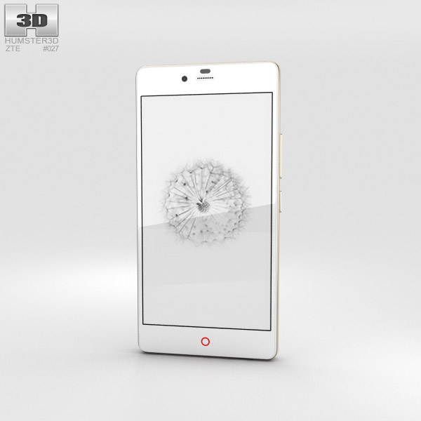 3D model of ZTE Nubia Z9 Mini White