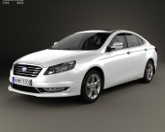 3D model of FAW Besturn B70 2014