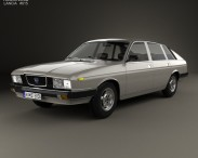 3D model of Lancia Gamma Berlina 1976