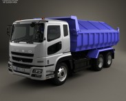 3D model of Mitsubishi Fuso Super Great Dump Truck 3-axle 2007
