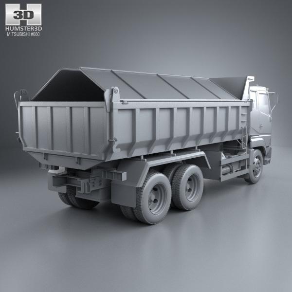 Dump Truck 3 Axles : Mitsubishi fuso super great dump truck axle d