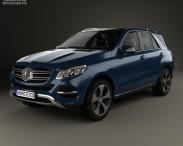 3D model of Mercedes-Benz GLE-Class (W166) 2014