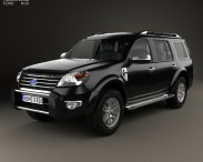 3D model of Ford Endeavour 2014