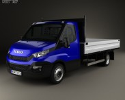 3D model of Iveco Daily Dropside 2014