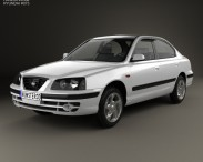 3D model of Hyundai Elantra (XD) 2003