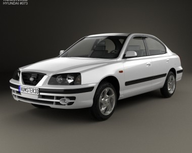 3D model of Hyundai Elantra (XD) 2003