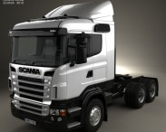 3D model of Scania R420 Tractor Truck 3-axle 2009