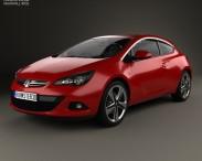 3D model of Vauxhall Astra GTC 2011
