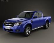 3D model of Ford Ranger Extended Cab 2009