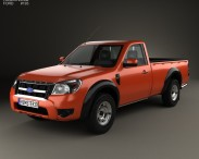3D model of Ford Ranger Regular Cab 2009