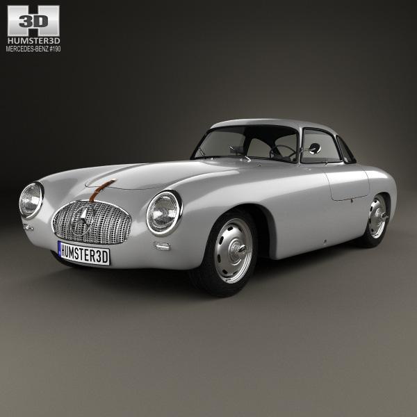3D model of Mercedes-Benz SL-Class  (W194) 1952