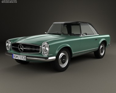 3D model of Mercedes-Benz SL-class (W113) 1963