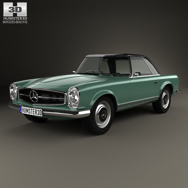 Mercedes benz sl class w113 1963 3d model humster3d for Models of mercedes benz