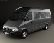 3D model of Mercedes-Benz Sprinter (903) Passenger Van L3H2 2000
