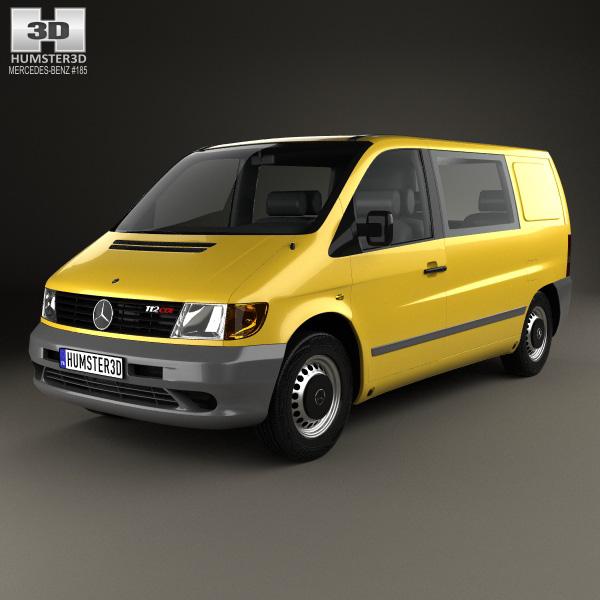 3D model of Mercedes-Benz Vito (W638) Kombi Van 1996