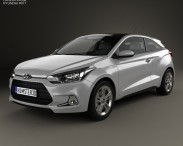3D model of Hyundai i20 Coupe 2015