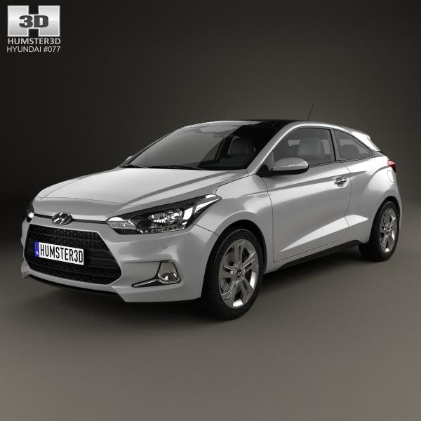 3D model of Hyundai i20 Coupe 2015