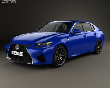 3D model of Lexus GS F 2015