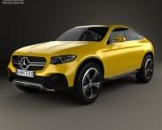 3D model of Mercedes-Benz GLC Coupe Concept 2014