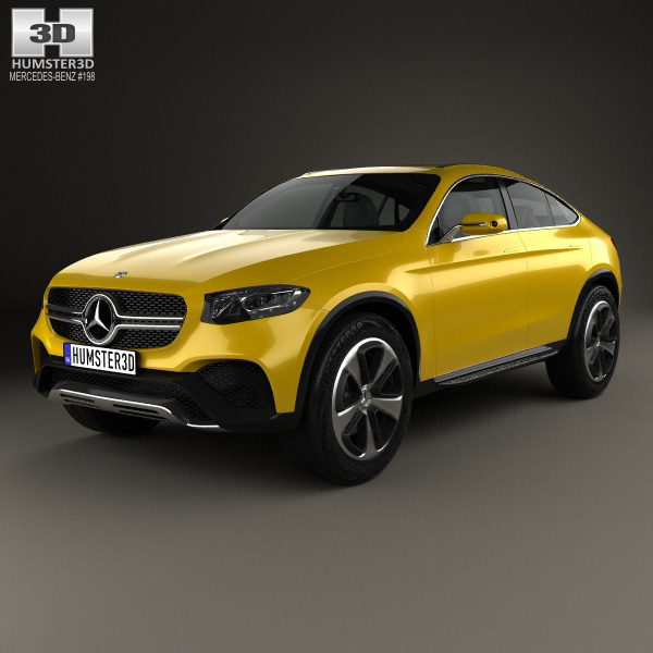 3D model of Mercedes-Benz GLC Coupe 2014
