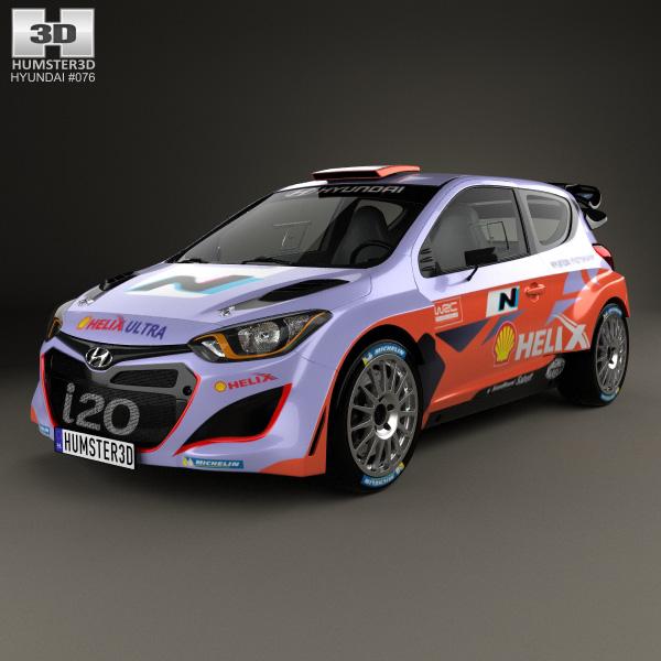 3D model of Hyundai i20 WRC 2012