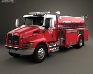 3D model of Kenworth T370 Fire Truck 2009
