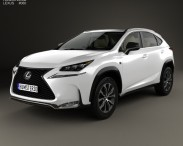 3D model of Lexus NX F-sport with HQ interior 2014