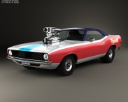 3D model of Plymouth Barracuda Dragster 1974