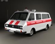 3D model of RAF 2203 Latvija Ambulance 1975